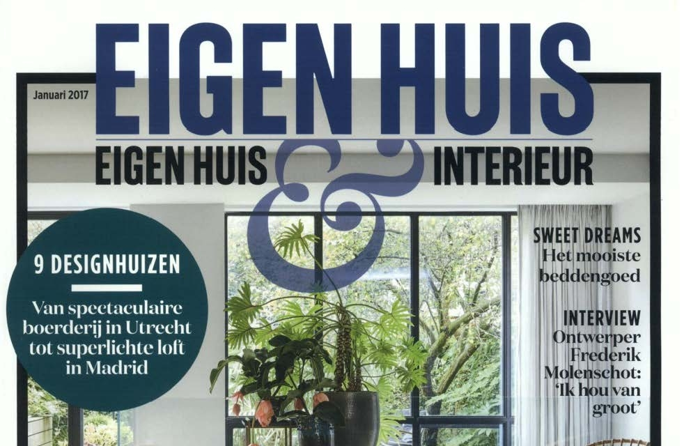 feel good armchair designed by antonio citterio featured on the duch magazine eigenhuis interieur january issue