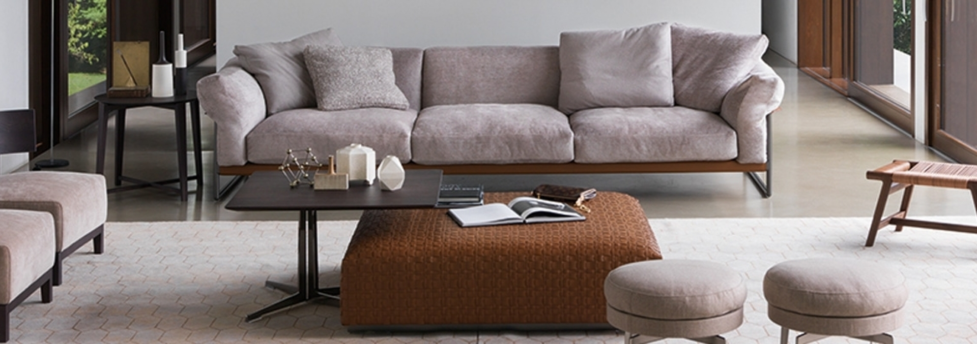 Divano Letto Moderno Flexform.Modern Sofas Upholstered With Washable Fabric